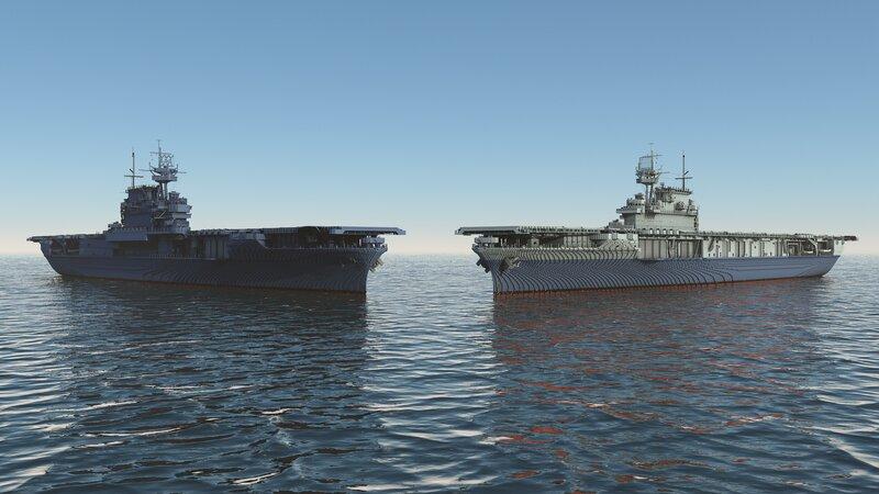 Enterprise and Yorktown