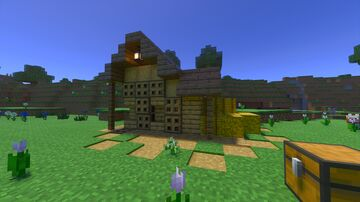 Chicken Farm AND Egg Collector | Raw OR Cooked Chicken Minecraft Map & Project