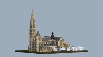 Cathedral of Our Lady, Antwerp, Belgium Minecraft Map & Project