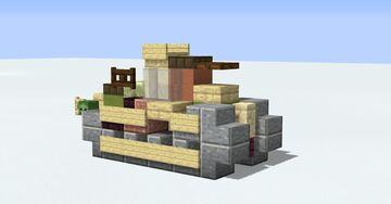 Renault FT-17 - 1.5:1 scale WW1 French Tank Minecraft Map & Project