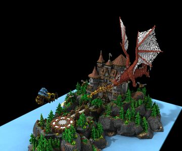 [EXCLUSIVE]🐲Dragon Castle Lobby🐲 Minecraft Map & Project