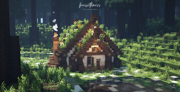 Mega Taiga Cozy Cabin 🌲🍂 Minecraft Map & Project