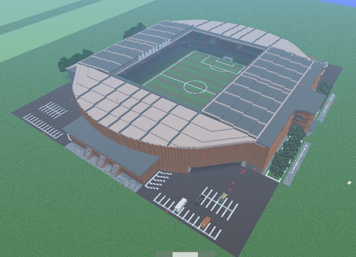 Realistic Soccer Stadium by Anderbest Minecraft Map