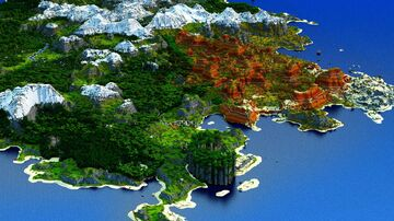 Harkardion -  Savanna, Loot-Structures and Foliage [play.mcmeddon.com] (Download, 4k, 1.17+,Java & Bedrock, Multibiome Minecraft Survival World) Minecraft Map & Project