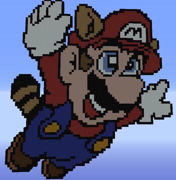 Mario Pixel Art Minecraft Map & Project