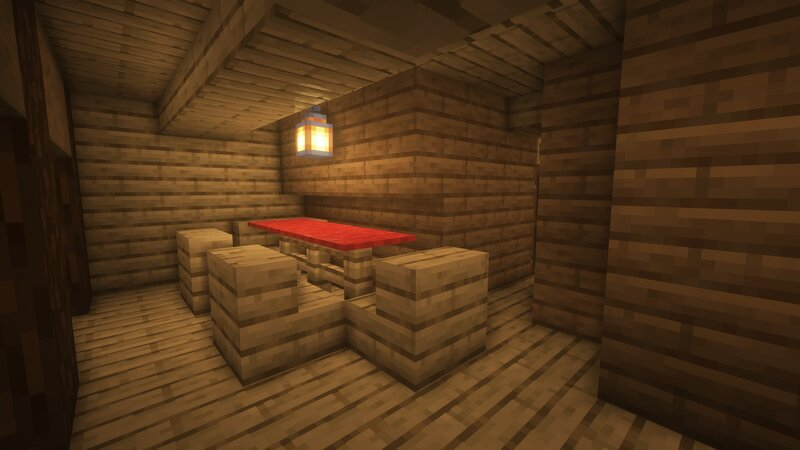 The Officer's Quarters feature dining accommodations fit for a 5-star tavern!