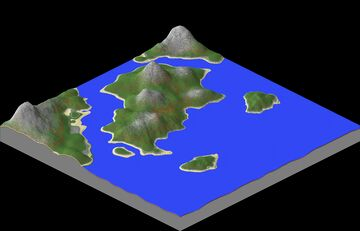 ⚜️896x896 - Custom Island - Map Download ! Minecraft Map & Project