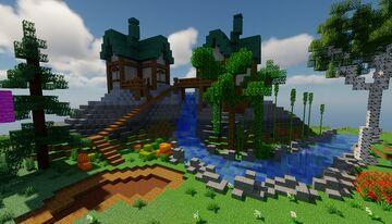 Spawn with 3 biomes [Faction, Kitpvp, Survival etc] for 1.16.4 Minecraft Map & Project