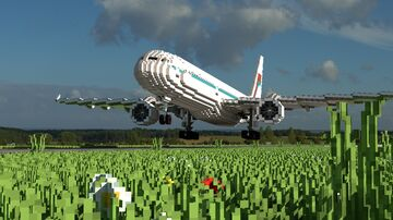 Some Aircraft (Boeing-767-type) Minecraft Map & Project
