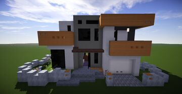 Small Modern House #9 (map download + decorated) 🏡 Minecraft Map & Project