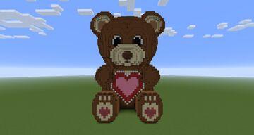 2021 Valentine's Day Teddy Bear Minecraft Map & Project
