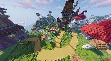 Pixie Isle Aka Fairy Gym (Commissioned by MagmaBuilds) Minecraft Map & Project