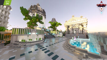 RTX: Main lobby of the official Minecraft Auronplay server. Minecraft Map & Project