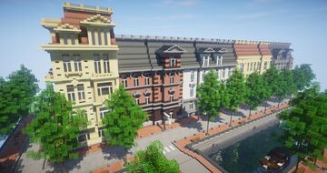 Canal Houses (Amsterdam) Minecraft Map & Project