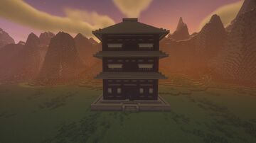 Japanese Style House - Large Minecraft Map & Project