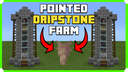 How To Build A Pointed Dripstone Farm In Minecraft Bedrock Edition 1.17 Minecraft Map & Project