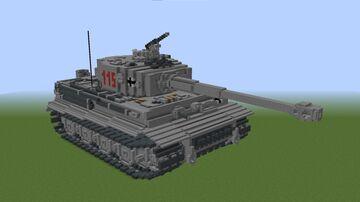PzKpfw. VI Tiger 1 Ausf. E #115 Minecraft Map & Project