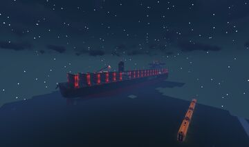 My own container ship on World Of Keralis Minecraft Map & Project