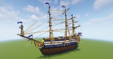 LEONIDAS Ship Of The Line (Schematic) Minecraft Map & Project