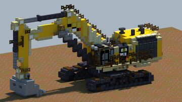 Cat 6015B, Excavator [With Download] Minecraft Map & Project