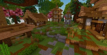 Mini Oriental Village Minecraft Map & Project