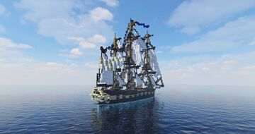 Thétis |French frigate (ShipSide) Minecraft Map & Project