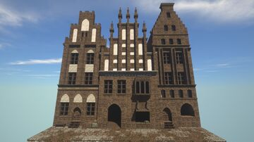 Medieval Gothic Brick Townhouses Minecraft Map & Project