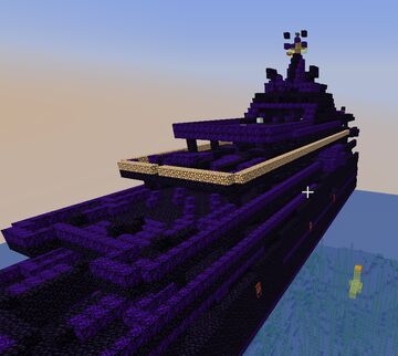 The Fraternity Mega Yacht - the Fifth Obsidian Structure on PhoenixAnarchy (1.17 Anarchy Server) - PhD's Farewell Minecraft Map & Project