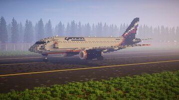 3:1 Aeroflot Sukhoi Superjet 100 (SSJ100) Minecraft Map & Project