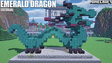 Japanese Emerald Dragon + Schematic Minecraft Map & Project