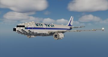 Airbus A300 1.5:1 Scale Minecraft Map & Project