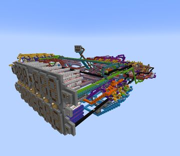 Base 10 computer / Calculator (additions , substractions , multiplications , divisions , square roots and factorials) Minecraft Map & Project