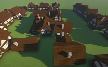 Tudor Town Houses Minecraft Map & Project