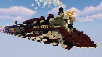 Steam train locomotive Minecraft Map & Project