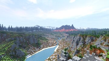 Watertague Refuge - North Volcano Island (Download, Survival, 3k map, 1.16+ for Java,) Minecraft Map & Project