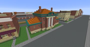 The 1000th Carnegie Library (Coshocton, OH) Minecraft Map & Project
