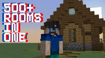 500+ Rooms-In-One Hotel! Immersive Portals Mod Minecraft Map & Project