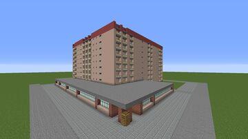 "Pripyat ""Белый дом"" / ""White house"" Minecraft Map & Project"