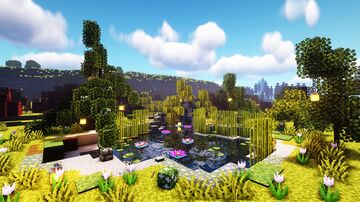 How to build a Pond Minecraft Map & Project