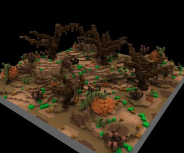 Pumpkin Wasteland KOTH [100x100] Minecraft Map & Project