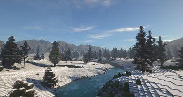 Winter Taiga (2K x 2K) Minecraft Map & Project