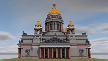 Saint Isaac's Cathedral | Saint Petersburg, Russia. Minecraft Map & Project