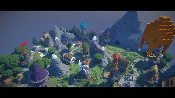 Epic Profesional Flying Island Environnement Build Map (hub/lobby/map/etc..) For any use u want ! Minecraft Map & Project