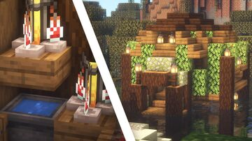 Minecraft   Witch Hut Idea   How to Build a Witch Hut Tutorial Minecraft Map & Project