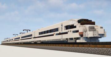 1.5:1 Scale Deutsche Bahn ICE 3 High Speed EMU Train Minecraft Map & Project