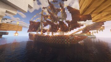 Man o' War ship with working cannons (REWORK SOON) Minecraft Map & Project
