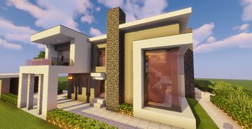 Modern House #123 (Map + Schematics) Minecraft Map & Project