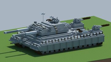 Landkreuzer P. 1000 Ratte, Super heavy tank [With Download] Minecraft Map & Project