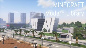 Modern Library (full interior) Minecraft Map & Project