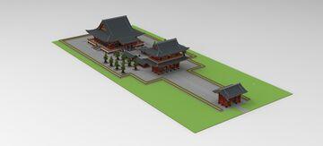 Asakusa Kannon Sensoji 3 Minecraft Map & Project